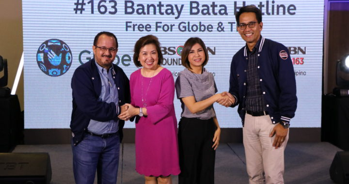 Globe, ABS-CBN Foundation to offer toll free calls to Bantay Bata #163 for all Globe customers