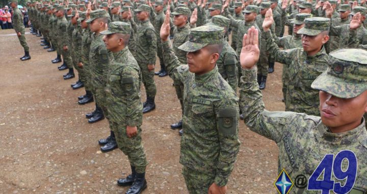 234 New Privates of 4ID vow to serve the people in NorMin, Caraga